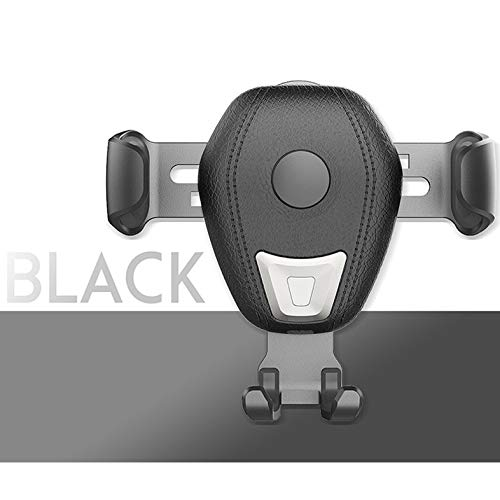 Wireless Car Charger Bracket, Adjustable Gravity Air Vent Mobile Phone Holder 10W Fast Charging Car Mount Gripper Compatible with Apple iPhone X Xs Max Xr X 8 8 Plus, Samsung Galaxy Note S7 (Black)