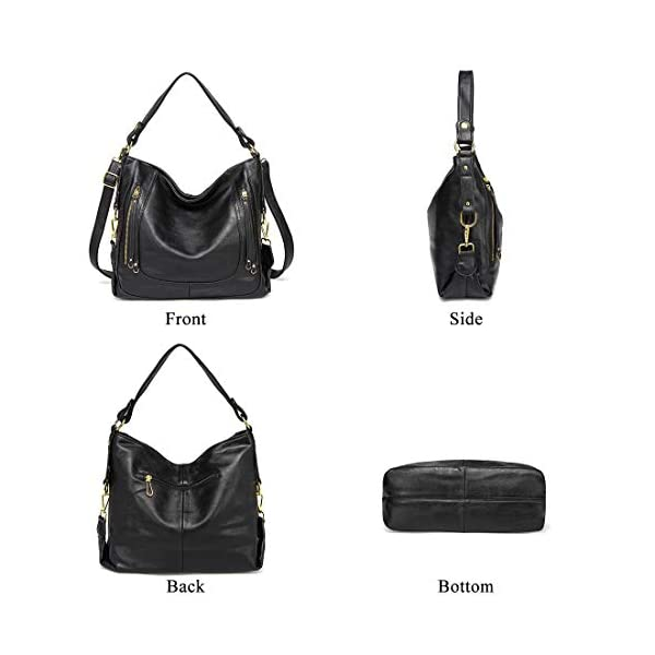 Kasqo-Women-Hobo-Bag-Faux-Leather-Handbag-Shoulder-Bag-with-Detachable-Strap