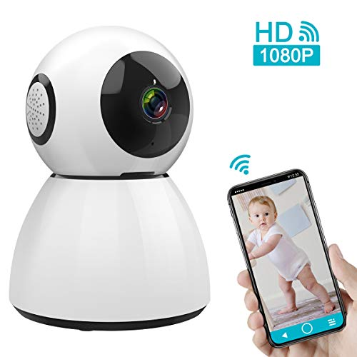 Wireless IP Camera, M WAY 1080P HD Indoor WiFi Camera Home Security Camera Surveillance, Pan/Tilt/Zoom Baby Monitor, Two-Way Audio, Motion Detection Nigh Vision, Cloud Storage for ()