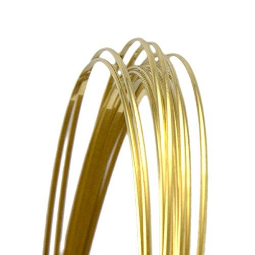 (18 Gauge Half Round Half Hard Yellow Brass Wire - 25FT)