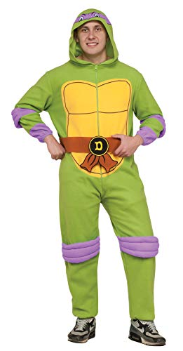 Rubies Costume Men's Teenage Mutant Ninja Turtles Hooded Jumpsuit, Donatello, X-Large -
