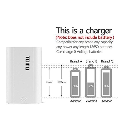 Vanpower M3 LCD portátil Cargador de batería Caja DIY Power Bank Case Shell (Negro) 2