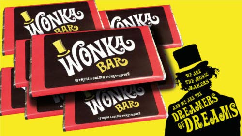 Willy Wonka Milk Chocolate Bar, great gift (Willy Wonka Chocolate Candy Bar)