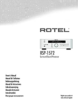 rotel rsp 1572 surround sound processor owners instruction manual rh amazon com Automobile Owners Manual Automobile Owners Manual