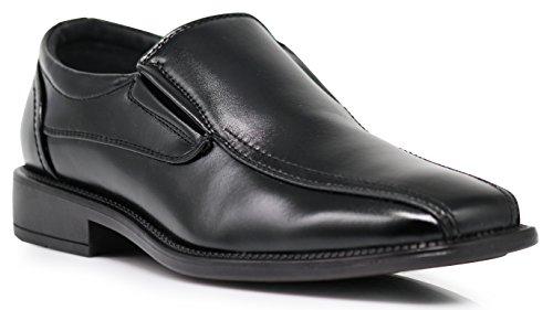 Enzo Romeo BRN3 Mens Smooth Loafer Bicycle Toe Dress Shoes Slip On Italy Modern Designer Black lzYQJ6h