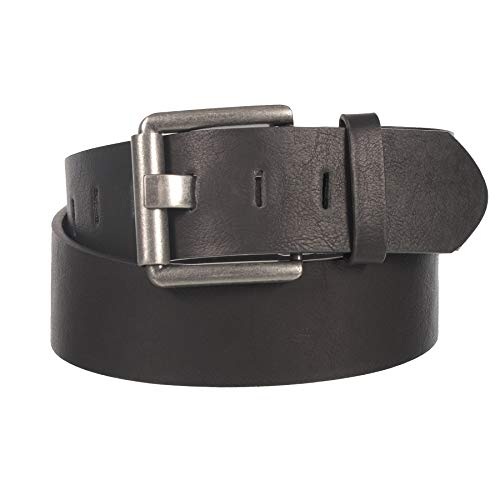 """(Men's 2"""" Genuine Leather Belt with Fashion Metal Buckle By Gary Majdell Sport (Black, 44))"""