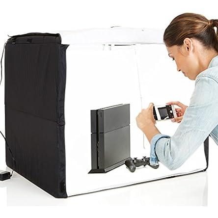 Amazon Basics Portable Foldable Photo Studio Box with...