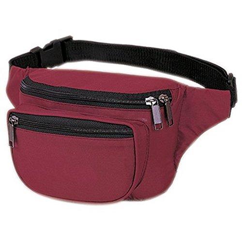 yensr-fantasybag-3-zipper-fanny-pack-fn-03-burgundy