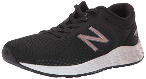 (New Balance Girls' Arishi V2 Bungee Running Shoe, Black/Rose Gold, 10 W US Toddler)