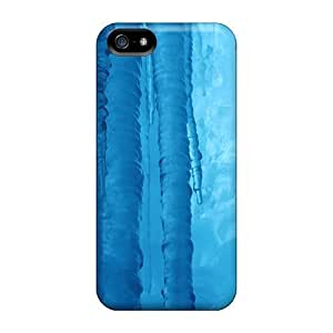 Awesome Blue Ice Flip Case With Fashion Design For Iphone 5/5s
