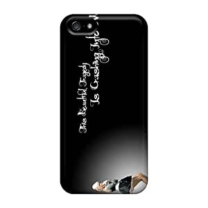 Protective Hard Phone Covers For Iphone 5/5s With Support Your Personal Customized HD Maria Brink Band Pattern RitaSokul