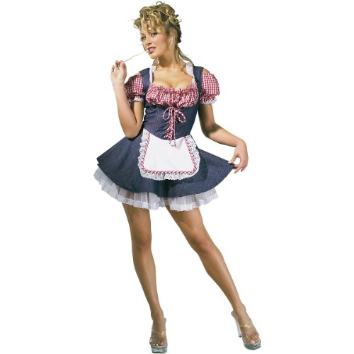 [Farmers Daughter Costume - Medium - Dress Size 10-12] (Farmers Dress Up Costumes)
