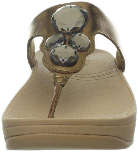 Fitflop Kvinners Lunetta Thong Sandal Lys Bronse