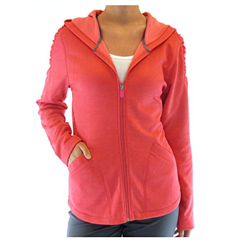 Alex+Abby Plus-Size Inspire Full Zip Hoodie 3X-Large Coral Rose Heather