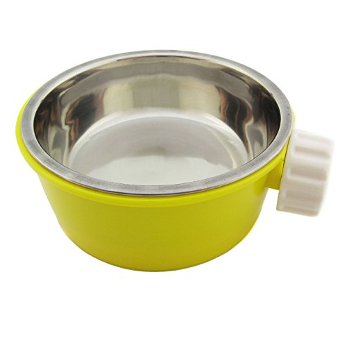Alfie Pet by Petoga Couture - Flynn Food Water Bowl for Small Animals - Color: Yellow