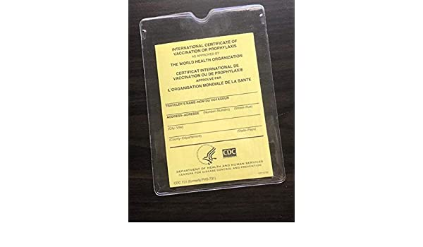 OFFICIAL IMMUNIZATION RECORD: US GOVT PRINTED BOOKLET WITH