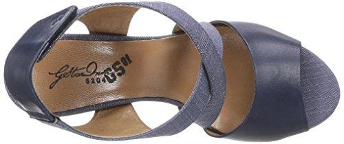 G-Star Gable Salon Strap - Sandalia Tacón Para Mujer Navy Lthr & Textile w/Blue