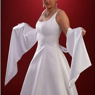White Satin Shawl For Dress Prom PARTY WEDDING DAY Wedding Bride Bridesmaids Sash