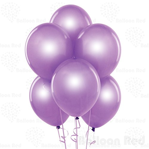 10 Inch Pearlized Latex Balloons (Premium Helium Quality), Pack of 144, Pearl Lavender