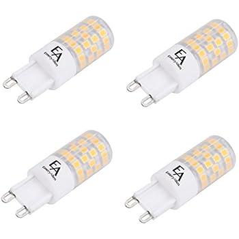 EmeryAllen (Pack of 4) 4.5W Miniature LED Bulb, Dimmable - G9 Base, 120V, CRI>90 (3000K)