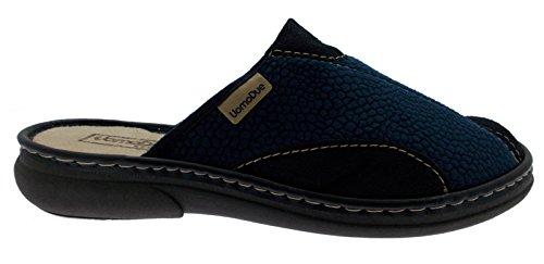 chausson chaussure daim bleu chiffon article 724