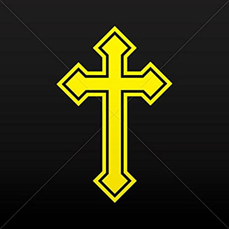 Amazon Stickers Decal Cross Christian Symbol Trinity Car Door