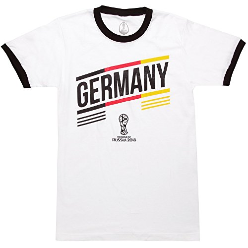 - Fifth Sun FIFA World Cup Russia 2018 Men's Germany Stripes White/Black Ringer T-Shirt