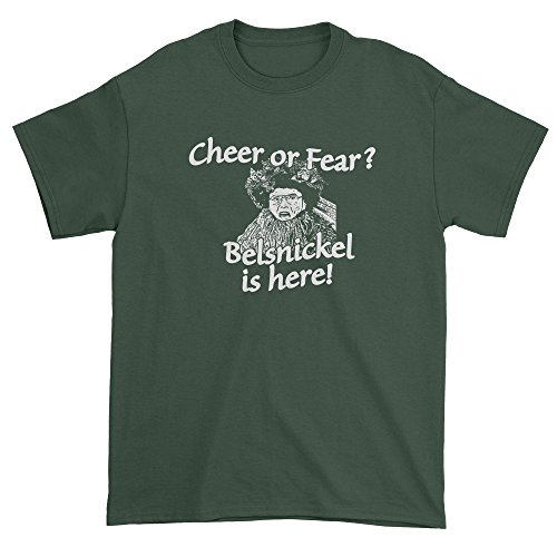 FerociTees Mens Belsnickel Cheer or Fear T-Shirt Large Forest ()