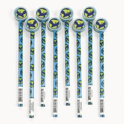 UPC 887600820784, Earth Pencils With Globe Eraser Toppers (1 dozen) - Bulk