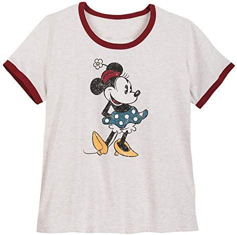 Disney Minnie Mouse Ringer T-Shirt for Women - Extended Size Multi
