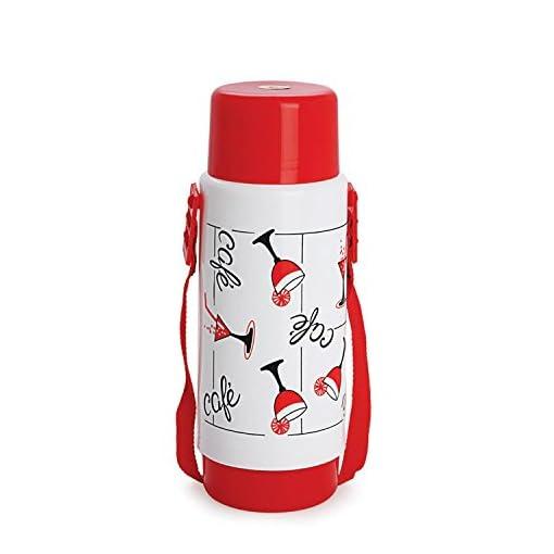 Cello Sensation Belt Flask, 1 Litre, White (BF_SENSA_White