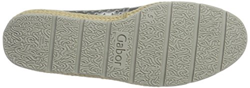 Gabor Shoes Comfort, Bailarinas para Mujer Plateado (silber Jute)