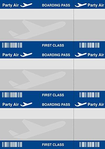 150 Tarjetas de invitación Diseño de Billete de avión, tarjetas de invitación para cumpleaños para sí Imprimir | profesional Plantillas | originelle, ...