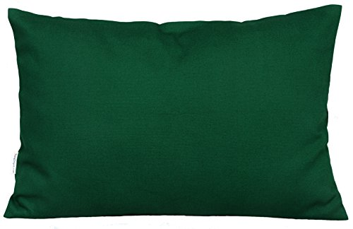 """TangDepot Cotton Solid Throw Pillow Covers, 12"""" x 18"""" , Deep"""