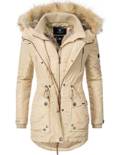 Grinsekatze Marikoo Couleurs XXL XS 7 pour Parka Veste Dame Beige d'hiver aRZAp6nR