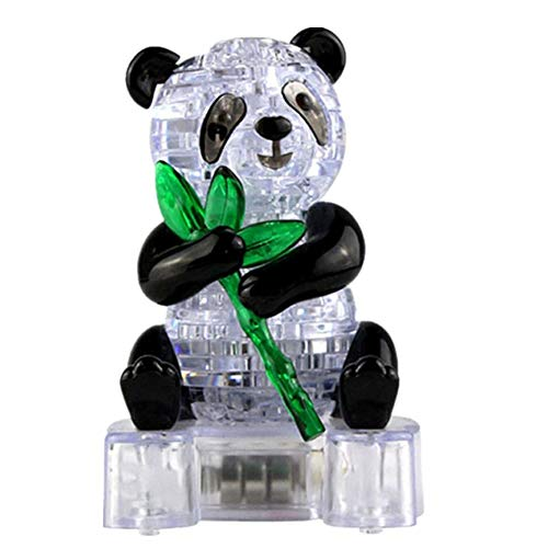 callm Educational Toy,3D Crystal Puzzle Toy Cute Panda Model DIY Gadget Blocks Building Toy Gift from callm