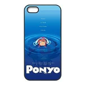Ponyo funda iPhone 5 5s caja funda del teléfono celular del teléfono celular negro cubierta de la caja funda EEECBCAAL15384