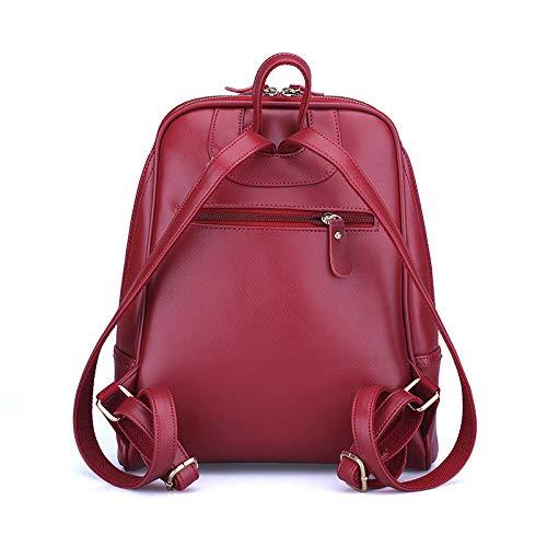 Pu Female New Trend Backpack Wild Women's College Bag Shuangjian Shoulder FqtUwx