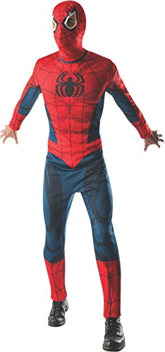 Marvel Spiderman Adult Costumes (Rubie's Costume Men's Marvel Classic Adult Spider-Man Costume, Multi, X-Large)
