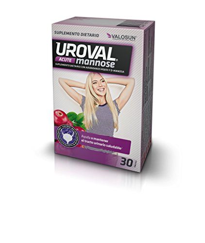 Amazon.com: Uroval Mannose Acute Urinary Tract Infections Cranberry D-mannose Dietary Supplement for Women 30Count Capsules Packed in Blisters: Health ...