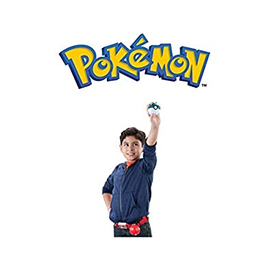 Pokémon Clip and Carry Poké Ball Adjustable Belt with 2 inch Pikachu Figure, Poké Ball, and Grass Type Nest Ball - Assorted colors: Toys & Games