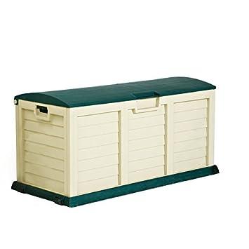 Sencillo y práctico Jumbo - Caja de almacenamiento para el jardín ideal Solución de almacenamiento para el jardín, patio o garaje - adecuado para su Jardín ...