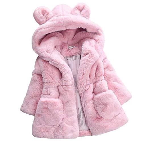 Meflying Girl Warm Plush Coat Rabbit Ear Hooded