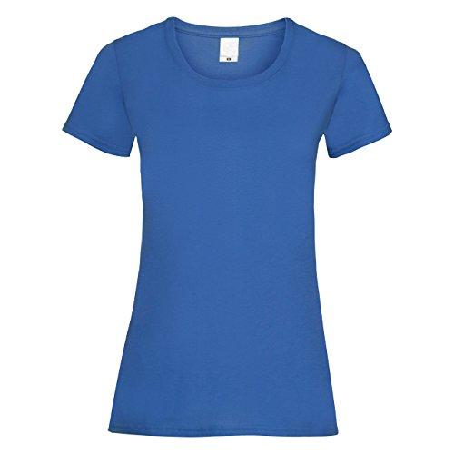 Maglietta Textiles Universal Rosa Corte Tinta a Value Maniche Donna Acceso Unita q1CwSC