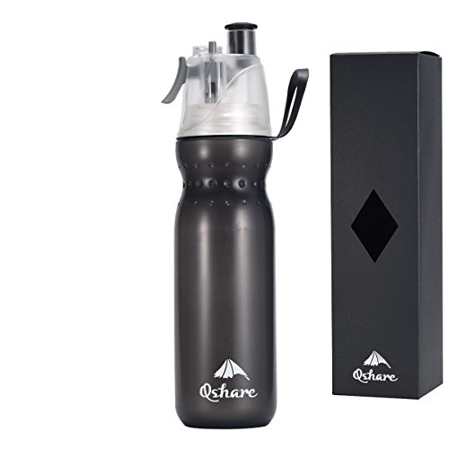 Qshare Spray Mist Squeeze Bottle Insulated Drinking Amp Misting Sport Water Bottle With Mist Sprayer Outdoor Sport Hydration Bpa Free Limited