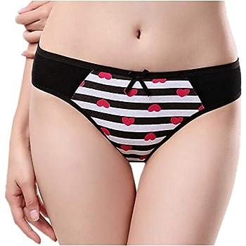 3e8bf8a5771 YOMORIO Girls Anime Striped Panties Comfort Low Waist Underwear Cute Cotton  Briefs for Women