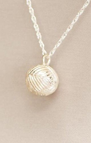 Ever My Pet Eternity Yarn Ball Pet Cremation Urn Pendant Silver Silver by Ever My Pet