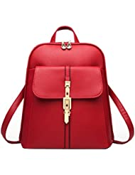 Vintage Pu Leather Women Small Backpack College School bag Travel Backpack for Girls
