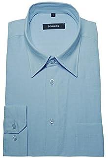 HUBER Herren Oberhemd schwarz Kontrast grau Button-down Kragen HU ... 65fb591007
