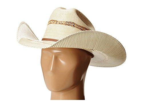 ARIAT Men's 2-Tone Bangora Open Brim Cowboy Hat, Natural/tan, 7 1/4 Brim Straw Cowboy Hat